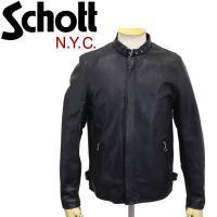 Schott (ショット) SOLID CLASSIC RACER JACKET (ソリッドクラシックレーサージャケット) BLACK