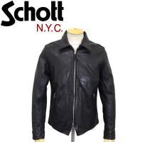 Schott (ショット) 3181055 WEST COAST JKT ウエストコースト レザージャケット 09-ブラック