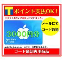 コード専用 アップル Apple iTunes Card アイチューンズ App Store & iTunes ギフトカード 3000 ギフトコード 3000円分 (ギフト券・金券・ポイント消化に)