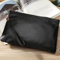 TIDING シンプル ナッパレザー 本革 メンズ クラッチバッグ セカンドバッグ 子牛革 ビジネス フォーマル iPadmini対応 革鞄 黒