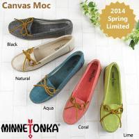 アメリカ生まれのMinnetonka<ミネトンカ>より、≪2014春夏限定モデル≫Canvas Mo...