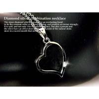 天然ダイヤモンド×シルバー925 デザインネックレス/オープンハート  ■種類       ダイヤモ...