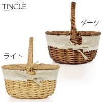 ピクニックバスケット かごバッグ ストロー 蓋付き 内布付き籐かご 編み込み BAG ラタン素材 竹 北欧