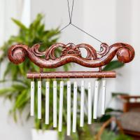 バリ島のハンガーチャイム(22cm×30cm) / ドアチャイムエスニック インド アジア 雑貨 アジアン 風鈴 ドアベル
