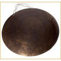 ブラスの銅鑼[62cm 5.4Kg] / ドラ、銅鑼、ネパール 打楽器、チベット 打楽器、打楽器、民...