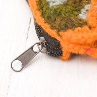 お花の手編みポーチ (オレンジ) / バッグ エスニック アジア インド モン族 民族 シガレッ