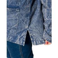 シンプル無地のストーンウォッシュクルタシャツ / エスニック 衣料 服 ファッショ レビューでタイカレープレゼント