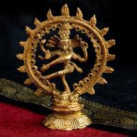 シヴァ ナタラジ シヴァ神 仏像 卓上サイズ ナタラジ(ダンシング・シヴァ) 13.5cm 神像 インド 神様 置物 エスニック アジア 雑貨