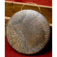ベトナムのゴング(銅鑼)24cm / 銅鑼、ゴング、ドラ、鐘  民族楽器 【インドとアジアン民族楽器...