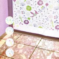 ◆商品について 透け感のある小鳥たちが可愛らしいカーテン!! オパール加工によりポリエステルの部分だ...