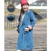 ◆商品について   今年流行りのデニムコート!! フリーサイズでゆったり着れる大きめな形になっていま...