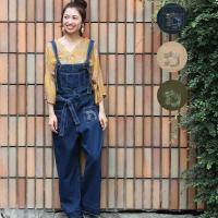 ◆商品について  毎年大人気のデニムサロペットパンツはポケットのダメージ加工とステッチ刺繍がポイント...