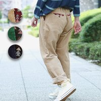 ◆商品について  ジャガードのパッチがポイントのコールパンツです。 前後のポケットとウエストのゴム部...