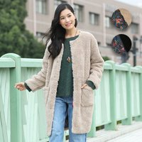 ◆商品について◆  もこもこボアがあったかいコートが登場♪ 表地は粒の大きいオリジナルボアを使用し、...