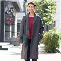 ◆商品について◆  鮮やかなオトミ刺繍が可愛いガウンコート! サイズはレディースフリー、お色は合わせ...