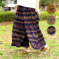 ◆商品について◆  ナバホ柄にアートっぽさをプラスした、ナバホプリントパンツ。 ピッと色さした感じや...
