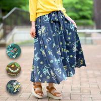 ◆商品について◆  ヴィンテージ感たっぷりのサーフアロハ柄ロングスカート。 素材はさらっとしていて、...