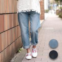 ◆商品について◆  ベーシックなデニムのテーパードパンツ。 テーパードでも腰まわりが大きく見えすぎず...