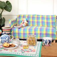 ◆商品について ナチュラルな綿のマルチカバーは、優しい色味をそろえました。 ベッドやソファに掛けたり...