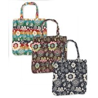 ◆商品について ほっこりした雰囲気の花柄の織りが可愛らしいトートバッグ♪A4サイズが入るので、ちょっ...