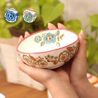 ◆商品について◆  レトロなお花がプリントされたボウルSサイズ。 取り皿としてはもちろん、程よい深さ...