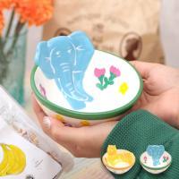 ◆商品について◆  アニマル柄が可愛い丸型食器。 色鮮やかなプリントがかわいくて、食事が楽しくなりそ...
