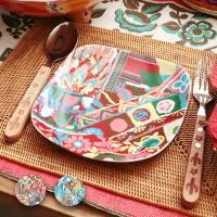◆商品について◆  カラフルなパッチワーク柄が目を引くプレート☆ ケーキなどのとりわけ皿にピッタリ!...