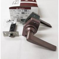 ドア取手ハンドル交換 GIKEN ホームレバーHL-1C 銅ブロンズ 空錠付 バックセット35mm、50mm、60mm