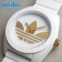 アディダス adidas サンティアゴ ADH2917 ホワイト×ゴールド トレフォイル メンズ レ...