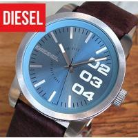 DIESEL ディーゼル diesel メンズ 腕時計  ブルー系 レザー 革ベルト フランチャイズ...