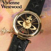 ヴィヴィアン・ウエストウッド Vivienne Westwood ブラック×ゴールド 腕時計 レディ...