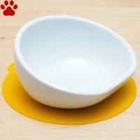 【7】 ハリオ 小型犬用フードボウル チビプレ ホワイト 滑り止めシリコンマット付き ワンプレ 食器 陶器 フードボール お洒落 シンプル