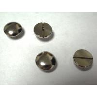 簡単取付け! ネジ式カシメ 直径10mm スタンダードタイプ 5mm足 シルバー 2個入  革小物などの留め具に最適