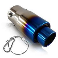 日産 新型セレナC27X マフラーカッター チタン焼き 真円型 ボルト付 約49mm~64mm適用 TOKUTOYO(トクトヨ)