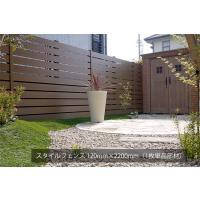 ご自宅やお庭の囲いや仕切りとして美しく演出するフェンス部材。木目調の樹脂素材で美しく耐久性の高いおし...