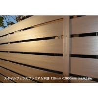 ご自宅やお庭の囲いや仕切りとして美しく演出するフェンス部材。スタイルフェンスにUV&木調加工をプラス...
