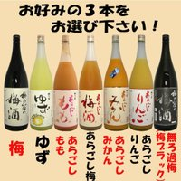 【キャッシュレス決済で5%還元!】梅乃宿 果実酒 1.8L選べる3本セット