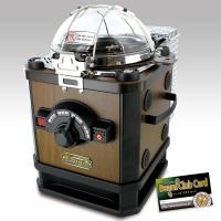 煙の出ない電動焙煎機コーヒービーンロースター!  シックな木目調のボディ。 ダイアルで煎り加減を選ぶ...
