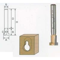 サイズ:軸径6mm 刃径9.5mm 刃長11mm 切削幅6.4mm 軸長32mm 全長44mm