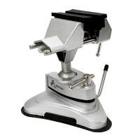 テーブル、作業台などにワンタッチ吸着! コンパクトサイズで使い勝手の良い万力! 時計工具での修理、電...
