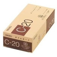 セイコー タイムカード C20カード 100枚  古紙パルプを使用した環境に優しい。