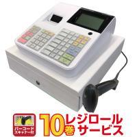 レジスター クローバー電子 JET-670 ホワイト レジロール10巻サービス!