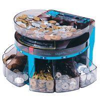 硬貨計数機・コインソーター  (SCS-200)  ●電動式で、6種類の硬貨を金種別に選別 ●金種別...