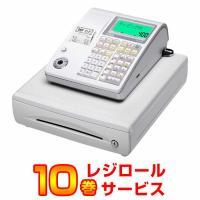 在庫限りレジスター 本体 カシオ TE-400-WH ホワイト ロール紙10巻サービス 小型