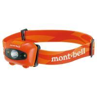 モンベル パワー ヘッドランプ バーントオレンジ1124586  単4形電池3本を使用し、明るさ16...