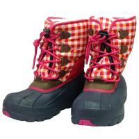 かわいい子ども用ブーツです。 ドローコードで簡単に調整可能。 内側はボア仕様です。