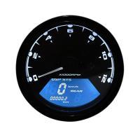 バイク用 多機能 デジタルスピードメーター タコメーター LCDモニター 燃料計 走行距離 ギア表示 機能付 12000RPM アナログタコメーター