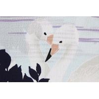 送料無料 新柄 和風館×RUMIX DESIGN STUDIO 浴衣反物 スワン 洗える 女物 生地 手洗いOK 原反 未仕立て品 ブランド浴衣 日本製 婦人 レディース 白鳥 盆踊り デ