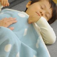 日本製 保育園に ふわふわあたたかな綿毛布ハーフケット[材質]:綿100%  [カラー]:スモーキー...