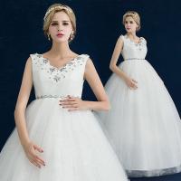 ウエディングドレス マタニティドレス エンパイア 安い 二次会 ウェディングドレス 結婚式 花嫁 ブライダル ロングドレス 白 wedding dress サッシュベルト
